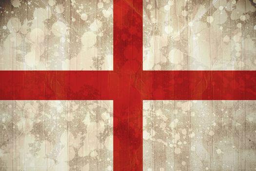 England flag in grunge effect