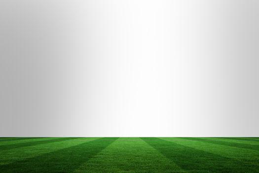 Football pitch under chrome