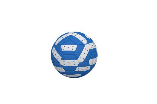 Football in honduran colours