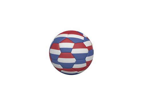 Football in holland colours