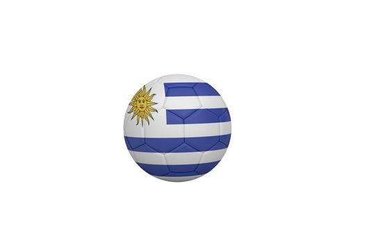 Football in uruguay colours