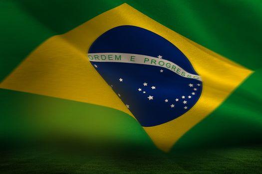 Brazilian flag waving