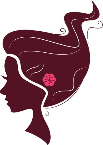 New in shop : Exclusive girl with Creative hair design. Creative illustration for beauty Business and Companies.