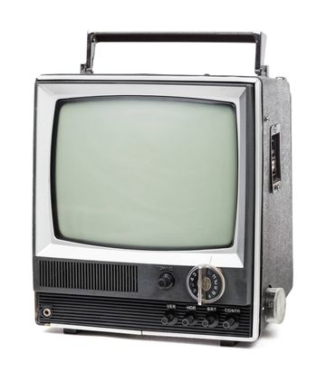 Old handheld television