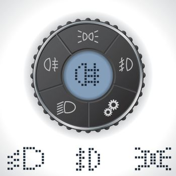 Light control gauge with lcd display