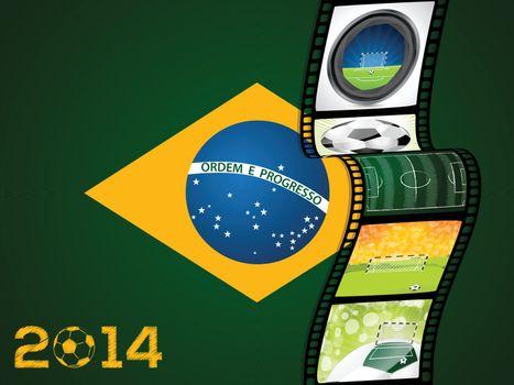 Film strip with brazil flag