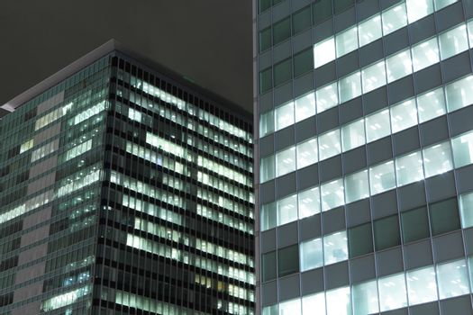 Night shot of contemporary building