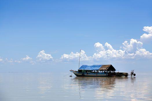 The floating village on Tonle Sap lake