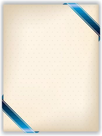 Dotted note with ribbon