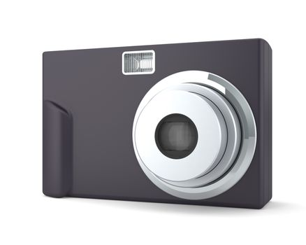 Digital Compact Photo Camera Isolated on White Background