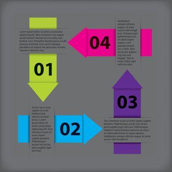 Vivid infographic design