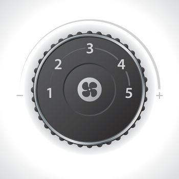 Air ventilation speed setting gauge
