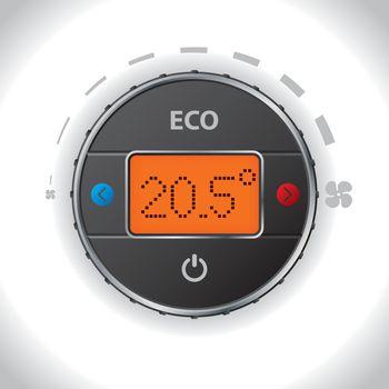 Car air condition button