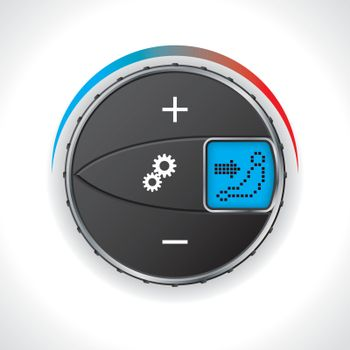 Air conditioning gauge with led display