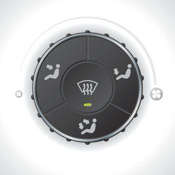 Air flow controller gauge for cars