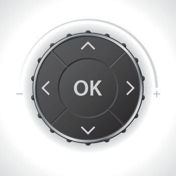 Universal menu or radio controller for dashboard