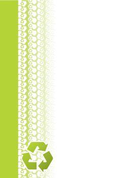 Ecological tire track brochure design