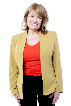 Smiling female senior executive
