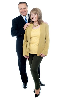 Seniors couple in love