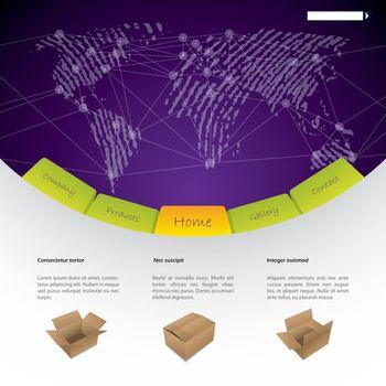 Worldwide shipping website template design
