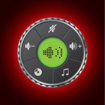 Volume control gauge with lcd