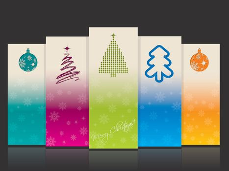 Cool christmas banners with christmas elements