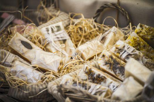 artisan soap in a medieval fair