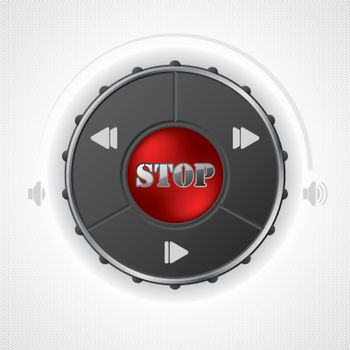 Volume and playback control gauge design