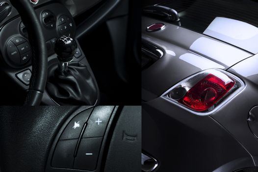 Car Interior and Exterior Collage