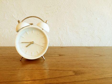 White old-fashioned alarm clock