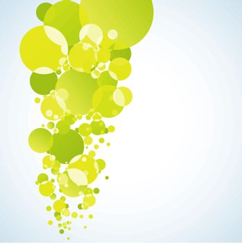 Abstract yellow bubble. EPS 8 vector file included
