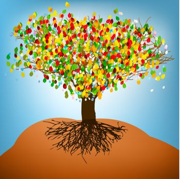 Abstract colorful tree. EPS8. To see similar visit my portfolio