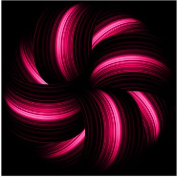 Red abstract waves on a black background. EPS 8 vector file included