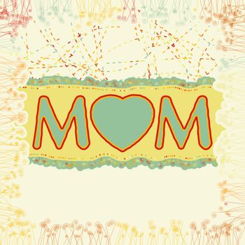 Happy Mother's Day. EPS 8 vector file included