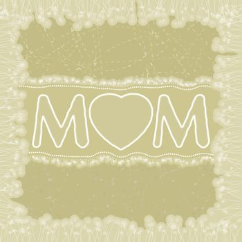 Happy Mother's Day greeting card. EPS 8 vector file included