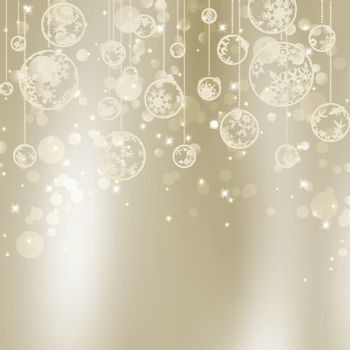 Abstract Christmas background with snowflakes. EPS 8 vector file included