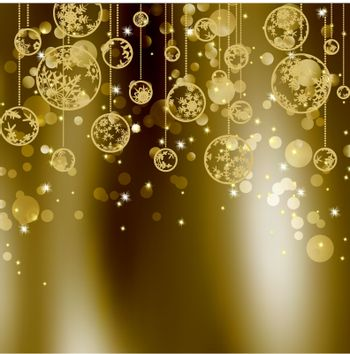 Elegant christmas background with place for new year text invitation. EPS 8 vector file included