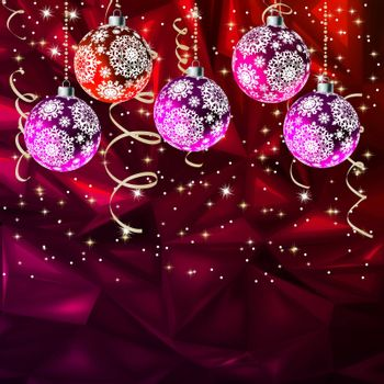 Merry Christmas Elegant Suggestive Background for Greetings Card. EPS 8 vector file included