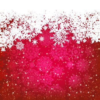 Beautiful red happy Christmas card,winter holiday background. EPS 8 vector file included