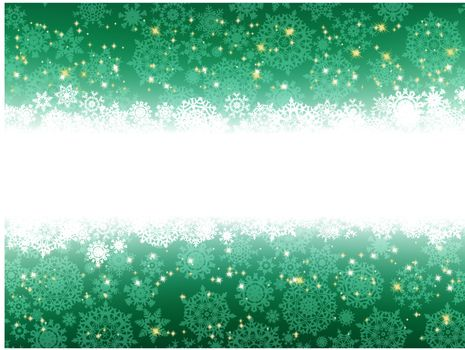 Illustration of a christmas background with stars and green stripes. EPS 8 vector file included