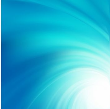 Abstract blue curves design. EPS 8 vector file included