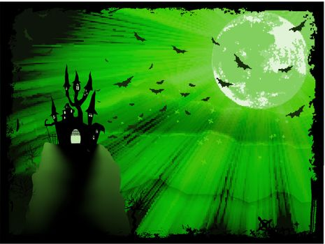Halloween poster with zombie background. EPS 10 vector file included