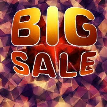 Modern background for futuristic Big sale. EPS 10 vector file included