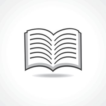 Open book icon stock vector