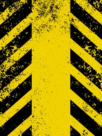 Hazard stripes in Grunge style. EPS 8 vector file included