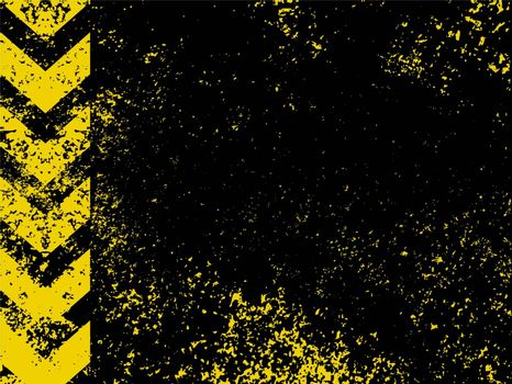 A grungy and worn hazard stripes texture. EPS 8 vector file included