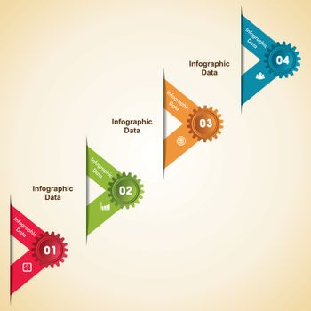 Creative gear infographics stock vector