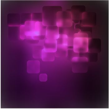 Purple abstract 3D warped square background. EPS 8 vector file included
