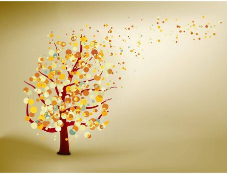 Abstract natural autumn background. EPS 8 vector file included