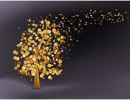 Abstract gold background. EPS 8 vector file included